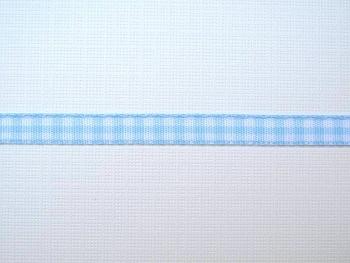 Dekoband hellblau weiss kariert 6 mm