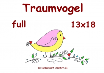 Stickdatei Traumvogel full 13x18