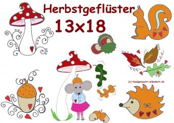 Stickdatei Serie Herbstgefluester 13x18