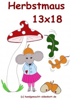 Stickdatei Herbstmaus 13x18