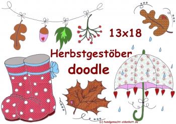 Stickdatei Serie Herbstgestoeber doodle   13x18 cm