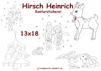 Stickdatei Serie Hirsch Heinrich 13x18