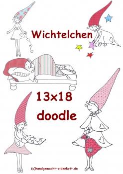 Stickdatei Serie Wichtelchen 13x18