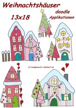 Stickdatei  Weihnachtshaeuser 13x18 doodles