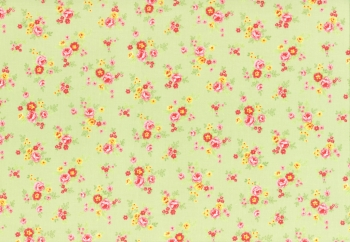 Lecien Patchwork Baumwoll Stoff Antique flower green 31422-60