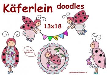 Stickdatei Serie Kaeferlein doodle 13x18
