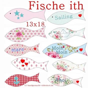 Stickdatei Serie Fische ith 13x18