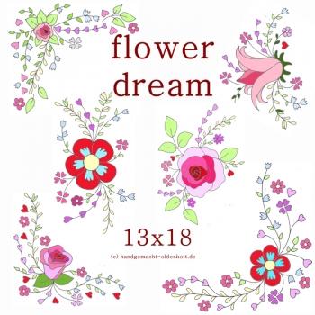 Stickdatei flowerdreams 13x18