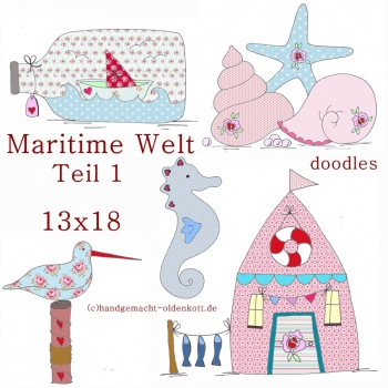 Stickdatei Serie Maritime Welt Serie 1 13x18