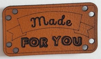 Leder Look Etikett made for you