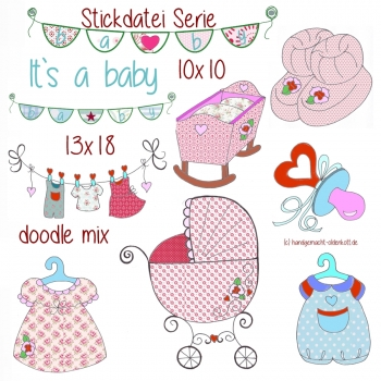 Stickdatei Serie It`s babytime