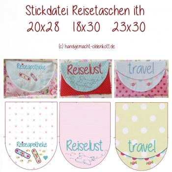Stickdatei Serie Reisetasche ith