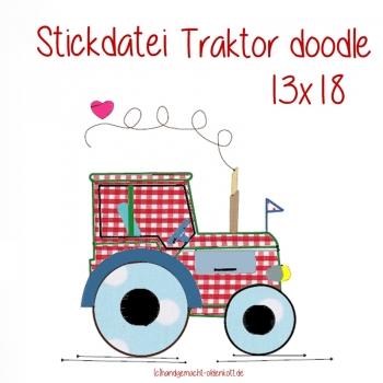 Stickdatei Traktor 13x18