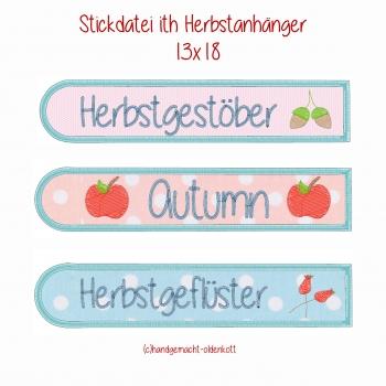 Stickdatei Herbstanhaenger ith 13x18