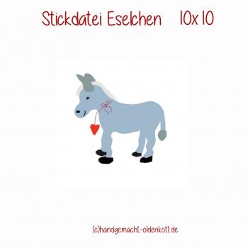 Stickdatei  Eselchen 10x10