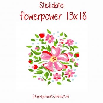 Stickdatei flowerpower 13x18