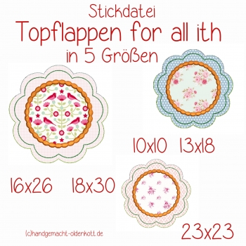 Stickdatei Topflappen for all ith