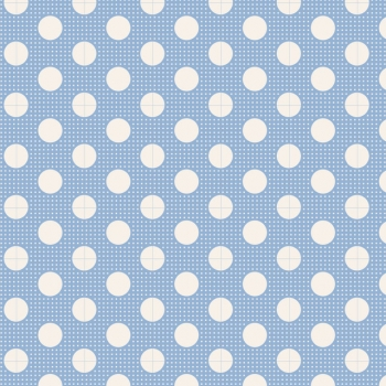 Tilda Stoff medium dots blue 130002
