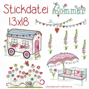 Stickdatei Serie Sommer 13x18