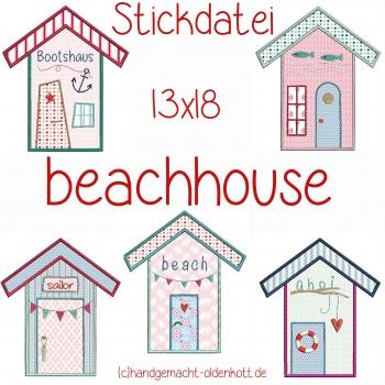 Stickdatei beachhouse 13x18