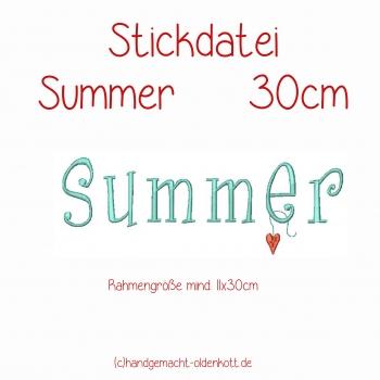 Stickdatei Summer
