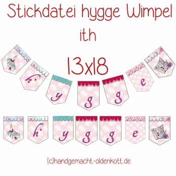 Stickdatei Serie hygge Wimpel 13x18 ith