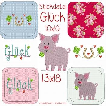 Stickdatei Glueck ith