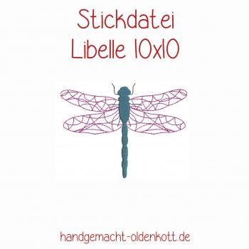 Stickdatei Libelle 10x10