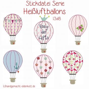 Stickdatei Serie Heissluftballons 13x18