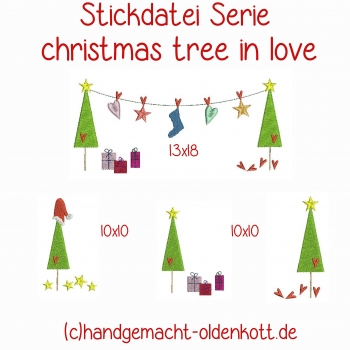 Stickdatei christmas tree in love