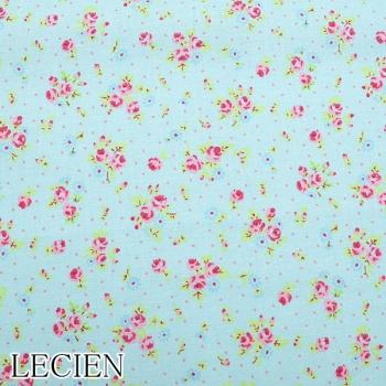 Lecien Patchwork Baumwoll Stoff Antique flower aqua 35068-70