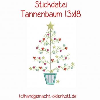 Stickdatei Tannenbaum 13x18