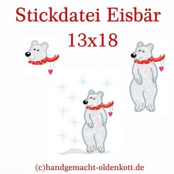 Stickdatei Eisbaer 13x18