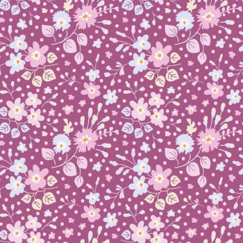 Tilda Stoff Plum garden flower confetti plum 100199