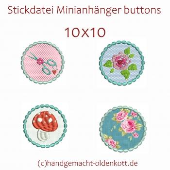 Stickdatei Minianhaenger buttons 10x10