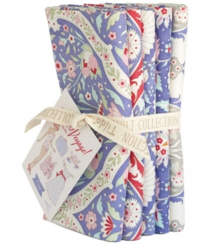 Tilda Stoff bon voyage fat quarter bundle blue 300072