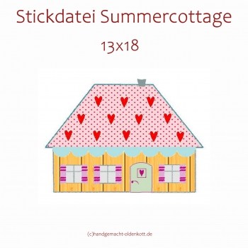 Stickdatei Summercottage Haus 13x18