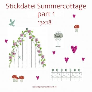 Stickdatei Serie Summercottage Part 1 13x18