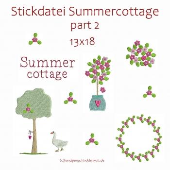 Stickdatei Serie Summercottage Part 2 13x18