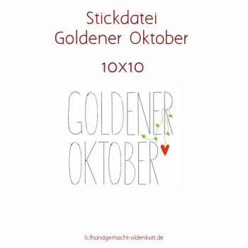 Stickdatei Goldener Oktober 10 x10