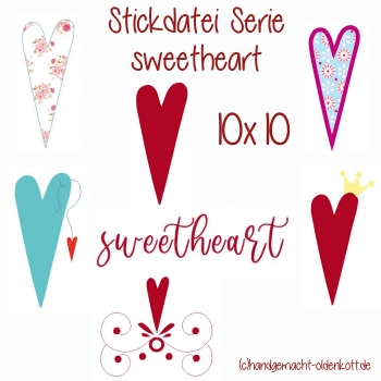 Stickdatei sweetheart 10x10