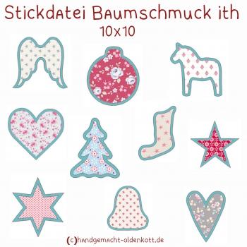 Stickdatei Baumschmuck beidseitig ith 10x10