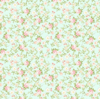 Riley Blake Designs Rose & Violets Garden Sweet Blossoms 10413 songbird