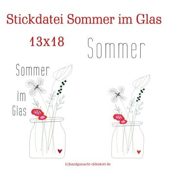 Stickdatei Sommer im Glas 13x18