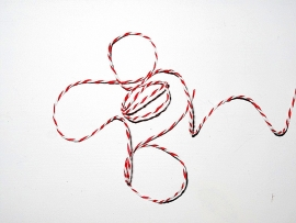 Kordel rot weiß