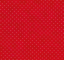Moda Stoff essential dots weiss rot 8654-38