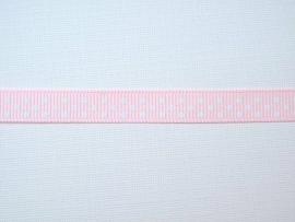Dekoband rosa mit weissen Punkten