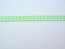Dekoband hellgrün weiss kariert 6 mm