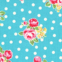Lecien flower sugar aqua blue 31128-70