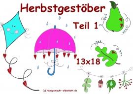 Stickdatei Serie Herbstgestoeber 1  13x18 cm